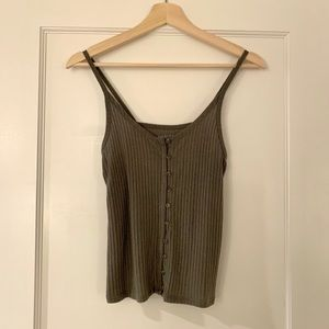 American Eagle Tank with Button Detail